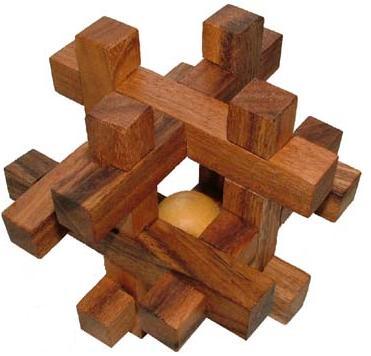 Tavor - Brain Teaser 3D Wooden Puzzle