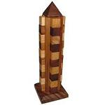 Tower of Peace Brain Teaser Wooden Puzzle