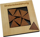 Dreiecksbeziehung - Geometric Packing Problem Wood Puzzle