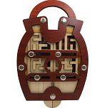 Labyschloss Lock - Wooden Maze Puzzle Game