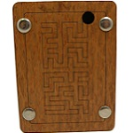 1-2-3 Maze - Wooden Brain Teaser Puzzle / Game