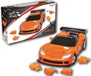 Corvette C6R - Orange 3D Jigsaw Puzzle Car Kit