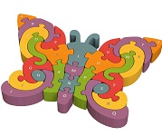 Butterfly A To Z - Alphabet Chunky Wooden Puzzle