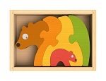 Bear and Cub Chunky Wooden Puzzle