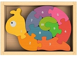 Number Snail Chunky Wooden Puzzles