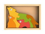 Wolf Family Chunky Wooden Puzzle