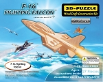 F-16 Fighter Falcon - 3D Jigsaw Woodcraft Kit - Wooden Puzzle