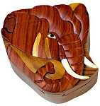 Elephant  - Secret Wooden Puzzle Box