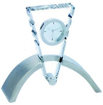 New Triangle Cut Crystal Desk Clock With Metal Base