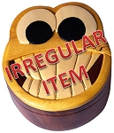 Irregular Smiley Face - Secret Wooden Puzzle Box