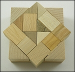 Square AC2 - Wooden Puzzle Brain Teaser