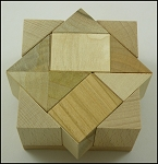 Mini AC3 - Wooden Puzzle Brain Teaser