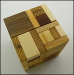Hooked Cube - Brain Teaser Wooden Puzzle