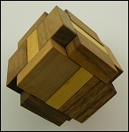 SIXI Cube - Brain Teaser Wooden Puzzle