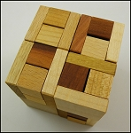 Twisted Halfcubes - Wooden Puzzle Brain Teaser