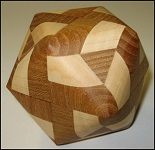 Truncocta Oval 2 - Wooden Puzzle Brain Teaser