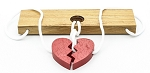 Two Lovers Heart (Large) - String Wooden Puzzle