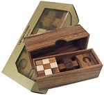 3 Wooden Puzzles Gift Set In A Wooden Box