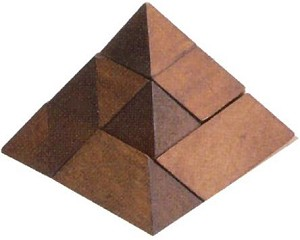 10 Pieces Pyramid - 3D Wooden Puzzle Brain Teaser