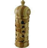 Beads Pagoda Advanced - Rotation Tower Wooden Puzzle