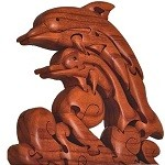 Dolphin Wave 3D Wooden Puzzle Brain Teaser