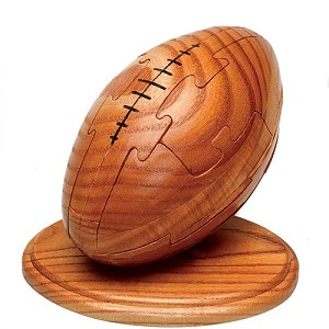 Football 3D Jigsaw Wooden Puzzle Brain Teaser
