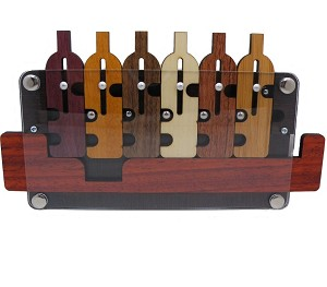 6 Bottles (Flaschenzug) - Wooden Puzzle Brain Teaser