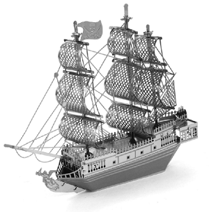 Black Pearl - Metal Earth 3D Model Puzzle