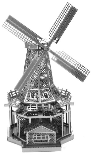 Windmill - Metal Earth 3D Model Puzzle