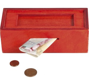 Simply Red Puzzle Box - Money Gift Trick Box