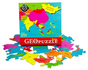 Asia Geography Jigsaw puzzle by Geo Puzzle