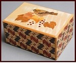 4 Sun 27 Steps Zougan Bird Yabane - Japanese Puzzle Box