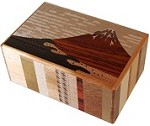 5 Sun 21 Steps Akafuji And Bird - Japanese Puzzle Box