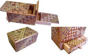 5 Sun 10 Steps With Hidden Drawer - Japanese Puzzle Box