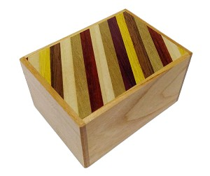 3 Sun 12 Steps Natural Wood Strips - Japanese Puzzle Box
