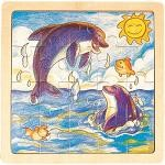 Dolphins - Jigsaw 21pc Wooden Puzzle