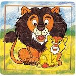 Lion & Cub - Jigsaw 21pc Wooden Puzzle