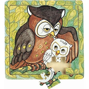 Owl - Jigsaw 21pc 4.5Wooden Puzzle