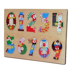 Artistic Numbers Peg Wooden Puzzle