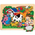 Farm Animals - Jigsaw Raised Wooden Puzzle