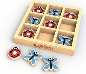TicBugToe - Tic Tac Toe Educational Travel Wood Game
