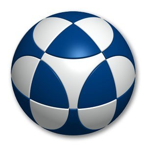 Marusenko Sphere Stage 1 White and Blue Rotation Puzzle