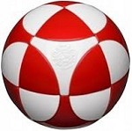 Marusenko Sphere Stage 1 White and Red Rotation Puzzle