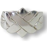 4 Band X Style Sterling Silver Puzzle Ring