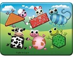 Farm Animals Shapes - Wooden Peg Puzzle