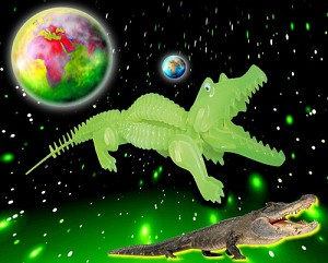 Alligator 3D Jigsaw Puzzle Glow In The Dark Construction Kit
