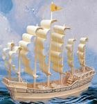 Ancient Sailboat - 3D Jigsaw Woodcraft Kit Wooden Puzzle
