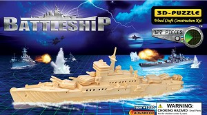 Battleship 3D Puzzle - Jigsaw Woodcraft Kit Wooden Puzzle