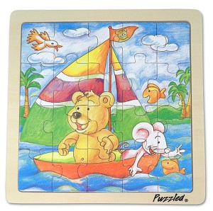 Bear & Mouse - Jigsaw 21pc Wooden Puzzle