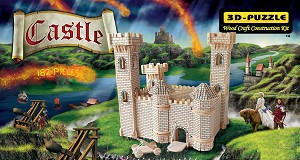 Castle - 3D Jigsaw Woodcraft Kit Wooden Puzzle